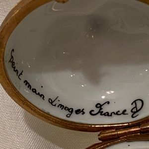 Limoges Accents - Limoges Apple Trinket Box
